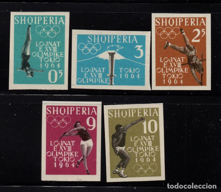 ALBANIA 576/80** SIN DENTAR - AÑO 1962 - JUEGOS OLIMPICOS DE TOKIO (Sellos - Temáticas - Olimpiadas)