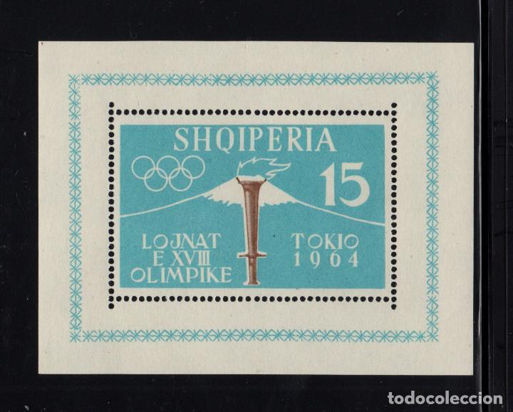 ALBANIA HB 6B** - AÑO 1963 - JUEGOS OLIMPICOS DE TOKIO (Sellos - Temáticas - Olimpiadas)