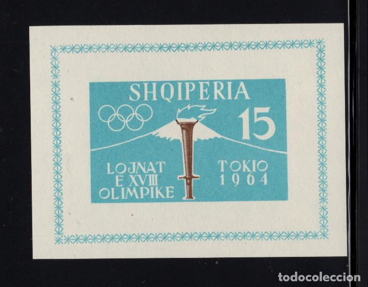 ALBANIA HB 6B** SIN DENTAR - AÑO 1963 - JUEGOS OLIMPICOS DE TOKIO (Sellos - Temáticas - Olimpiadas)