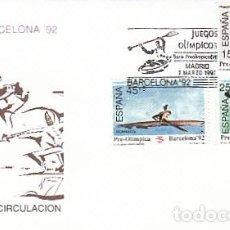 Sellos: EDIFIL 3104/6, JUEGOS OLIMPICOS BARCELONA, VI SERIE PREOLIMPICA, PRIMER DIA 7-3-1991 SFC. Lote 194065117