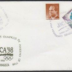 Sellos: AÑO 1990, ZARAGOZA, JACA'98, CANDIDATURA PARA LOS JUEGOS OLIMPICOS DE INVIERNO. Lote 194493213