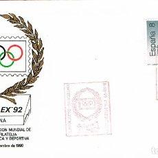 Sellos: AÑO 1990, BARCELONA, PRESENTACION DE LA OLIMPHILEX 1992. Lote 194493380