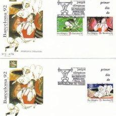 Sellos: EEDIFIL 3054/6, JUEGOS OLIMPICOS BARCELONA, IV SERIE PREOLIMPICA, PRIMER DIA 7-3-1990 SFC. Lote 194493825