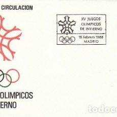 Sellos: EDIFIL 2932, PATINAJE SOBRE HIELO, JUEGOS OLIMPICOS DE INVIERNO EN CALGARY, PRIMER DIA 15-2-1988 SFC. Lote 194862080