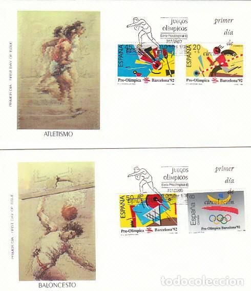 EDIFIL 2963/6, OLIMPIADA DE BARCELONA 92, PRIMER DIA DE 3-10-1988 ALFIL (Sellos - Temáticas - Olimpiadas)