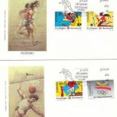 Sellos: EDIFIL 2963/6, OLIMPIADA DE BARCELONA 92, PRIMER DIA DE 3-10-1988 ALFIL. Lote 194862291