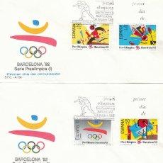 Sellos: EDIFIL 2963/6, OLIMPIADA DE BARCELONA 92, PRIMER DIA DE 3-10-1988 SFC. Lote 194862365