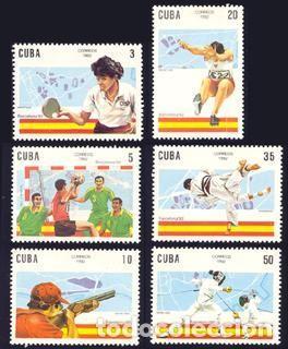 CUBA 1992 3180/85 TIRO/ESGRIMA/JUDO 6V. B-92 III BARCELONA 92. B (Sellos - Temáticas - Olimpiadas)