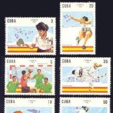 Sellos: CUBA 1992 3180/85 TIRO/ESGRIMA/JUDO 6V. B-92 III BARCELONA 92. B. Lote 195194690