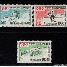Sellos: TOGO 300/02** - AÑO 1960 - JUEGOS OLÍMPICOS DE INVIERNO DE SQUAW VALLEY. Lote 195244878