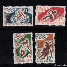 Sellos: TOGO 303/06** - AÑO 1960 - JUEGOS OLÍMPICOS DE ROMA - ATLETISMO - BOXEO - CICLISMO. Lote 195244911
