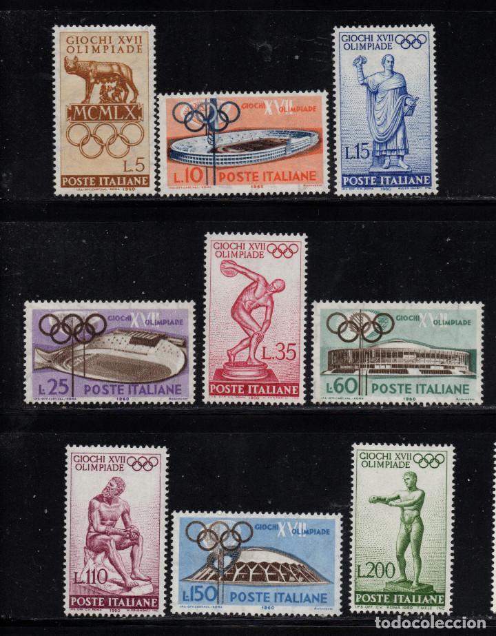 ITALIA 812/20** - AÑO 1960 - JUEGOS OLIMPICOS DE ROMA (Sellos - Temáticas - Olimpiadas)