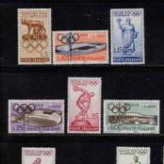 Sellos: ITALIA 812/20** - AÑO 1960 - JUEGOS OLIMPICOS DE ROMA. Lote 195308882