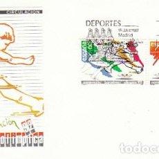 Sellos: EDIFIL 2908/9, JUEGOS OLIMPICOS BARCELONA, NOMINACION, PRIMER DIA DE 15-7-1987 SOBRE DEL SFC. Lote 195486163