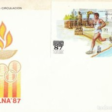 Sellos: DIFIL 2918, JUEGOS OLIMPICOS BARCELONA, EXFILNA 1987, PRIMER DIA DE 24-10-1987 SFC. Lote 195486333