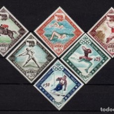 Timbres: MONACO 532/37** - AÑO 1960 - JUEGOS OLÍMPICOS DE ROMA Y DE SQUAW VALLEY. Lote 195491628