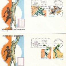 Sellos: EDIFIL 2768/71, JUEGOS OLIMPICOS DE LOS ANGELES, PRIMER DIA DE 27-7-1984 2 SOBRES DEL SFC. Lote 197110417