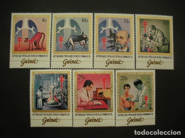 GUINEA 1983 IVERT 713/9 *** CENTENARIO DESCUBRIMIENTO DEL BACILO DE LA TUBERCULOSIS POR ROBERT KOCH (Sellos - Temáticas - Olimpiadas)