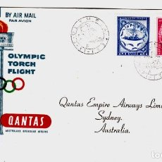 Sellos: GRECIA OLYMPIC TORCH ATHENS TO AUSTRALIA. Lote 199269227