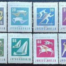 Sellos: 1960. YUGOSLAVIA. 810 / 817. JUEGOS OLÍMPICOS DE ROMA. SERIE COMPLETA. NUEVO.. Lote 199399562