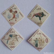 Sellos: SELLOS MÓNACO 654/57 JUEGOS OLÍMPICOS TOKIO 1964 NUEVO. Lote 199982223