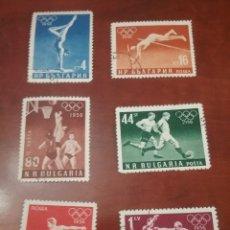 Timbres: SELLOS R. BULGARIA MTDOS/1956/JUEGOS/OLIMPIADAS/DEPORTE/MELBOURNE/AUSTRALIA/ATLETAS/BOXEO/BALONCESTO. Lote 200202425