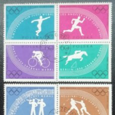 Francobolli: 1960. POLONIA. 1031 / 1038. DOS CONJUNTOS DE 4 VALORES. JUEGOS OLÍMPICOS DE ROMA. USADO.. Lote 200280233