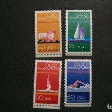 Selos: /30.04/-ALEMANIA FEDERAL-1972-Y&T 570/3 SERIE COMPLETA EN NUEVO SIN FIJASELLOS(**MNH)-J.O.MUNICH'72. Lote 202597943