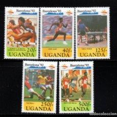 Timbres: UGANDA 741/45** - AÑO 1990 - JUEGOS OLIMPICOS DE BARCELONA. Lote 202976461