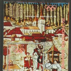 Sellos: Y. A. R.- 1972 - BLOQUE DE OLIMPIADA DE ALEMANIA - MUNICH - CON ADHESIVO. Lote 204171060