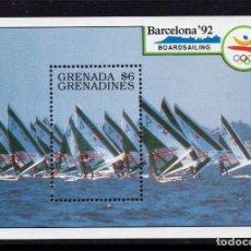 Sellos: GRANADA GRANADINAS HB 202** - AÑO 1990 - JUEGOS OLIMPICOS DE BARCELONA - VELA. Lote 204696218