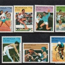 Sellos: NICARAGUA 1530/36** - AÑO 1990 - JUEGOS OLIMPICOS DE BARCELONA. Lote 204711812