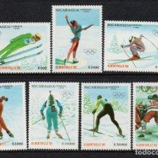 Sellos: NICARAGUA 1537/43** - AÑO 1990 - JUEGOS OLIMPICOS DE INVIERNO DE ALBERTVILLE. Lote 204711981