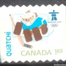 Timbres: CANADÁ OLIMPIADAS DE INVIERNO VANCOUVER 2010 SELLO USADO. Lote 205799627