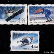 Timbres: RUSIA 6916/18** - AÑO 2006 - JUEGOS OLIMPICOS DE INVIERNO DE TURIN. Lote 206363416
