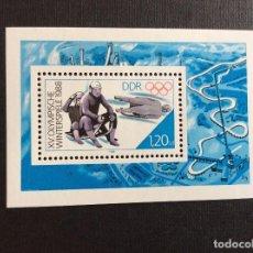 Sellos: ALEMANIA DDR Nº YVERT HB 89*** AÑO 1988. JUEGOS OLIMPICOS DE INVIERNO, EN CALGARY. Lote 206588933
