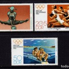 Timbres: ALEMANIA ORIENTAL 2165/67** - AÑO 1980 - JUEGOS OLIMPICOS DE MOSCU. Lote 207013498