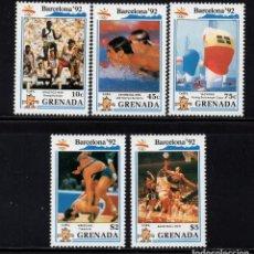 Sellos: GRANADA 1895/99** - AÑO 1990 - JUEGOS OLIMPICOS DE BARCELONA. Lote 207015321