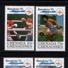 Sellos: GRANADA GRANADINAS 1144/47** - AÑO 1990 - JUEGOS OLIMPICOS DE BARCELONA. Lote 207016352