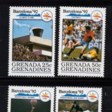 Sellos: GRANADA GRANADINAS 1148/51** - AÑO 1990 - JUEGOS OLIMPICOS DE BARCELONA. Lote 207016431