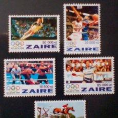 Sellos: OLÍMPIADAS LOS ÁNGELES 1984 SERIE COMPLETA DE SELLOS NUEVOS DE ZAIRE CONGO. Lote 208025765