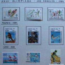 Sellos: LOTE 9 SELLOS OLIMPIADA DE LOS ANGELES 1984. Lote 210382883