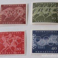 Sellos: SERIE 4 SELLOS NUEVOS ALEMANIA FEDERAL OLIMPIADA ROMA 1960. Lote 173459248
