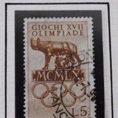 Sellos: LOTE 5 SELLOS ITALIA OLIMPIADA DE ROMA 1960. Lote 173497487