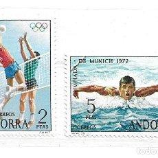 Sellos: 1972-ANDORRA ESPAÑOLA. JUEGOS OLÍMPICOS.MUNICH 72. Lote 210663685