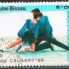 Sellos: GUINEA-BISSAU Nº 589, JUEGOS OLIMPICOS DE IMNVIERNO DE CALGARY, USADO. Lote 210963369