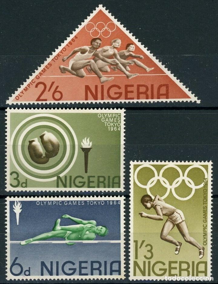 NIGERIA 1964 IVERT 161/4 ** JUEGOS OLIMPICOS DE TOKIO - DEPORTES (Sellos - Temáticas - Olimpiadas)