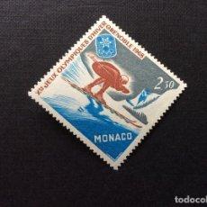 Sellos: MONACO Nº YVERT 733*** AÑO 1967. JUEGOS OLIMPICOS DE INVIERNO, EN GRENOBLE. Lote 212037885