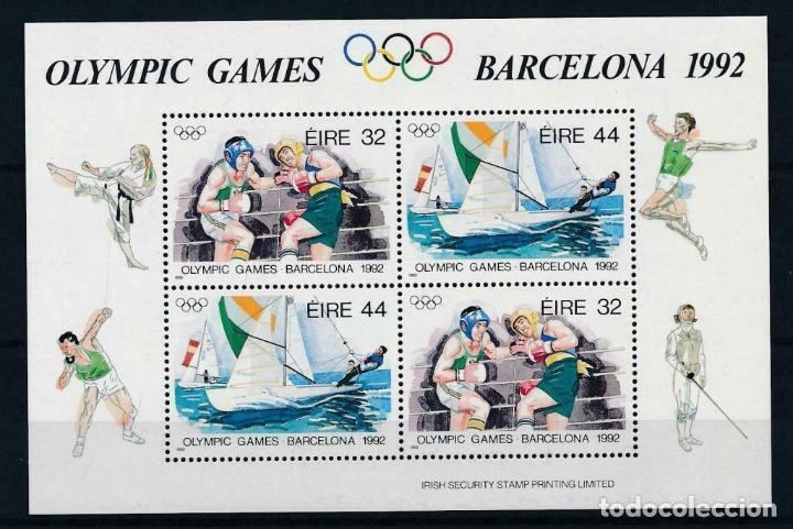IRLANDA 1992 HB IVERT 11 *** JUEGOS OLÍMPICOS DE BARCELONA - DEPORTES (Sellos - Temáticas - Olimpiadas)