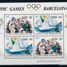 Sellos: IRLANDA 1992 HB IVERT 11 *** JUEGOS OLÍMPICOS DE BARCELONA - DEPORTES. Lote 212103952